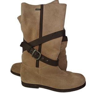Emu Aurora Suede and Sheepskin Tan Boots